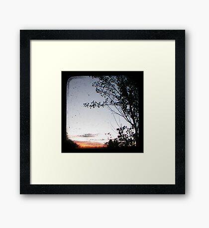 New England Sunset Through The Viewfinder (TTV) Framed Print