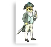 Captain Cat with a Sextant Canvas Print