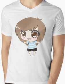 Cute Girls Mens V-Neck T-Shirt
