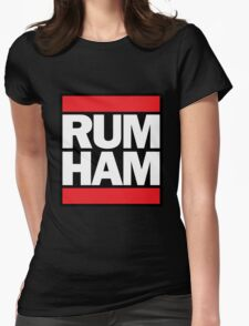 RUM HAM // Mac & Frank Womens Fitted T-Shirt