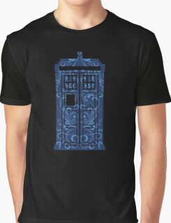 Blue Filigree TARDIS Graphic T-Shirt