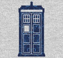 Blue Filigree TARDIS One Piece - Long Sleeve