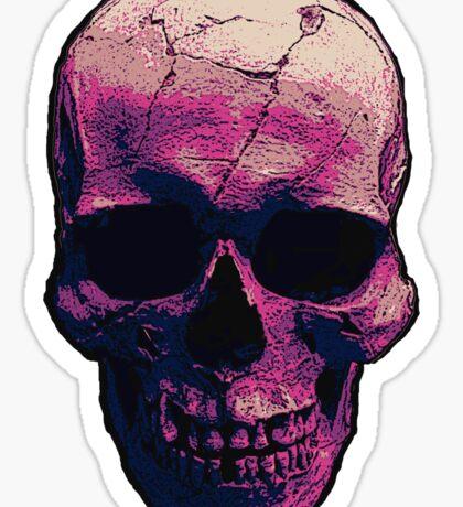 Badass Pink Skull  Sticker