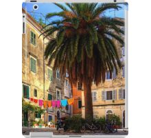 Washing Lines in Corfu Town iPad Case/Skin