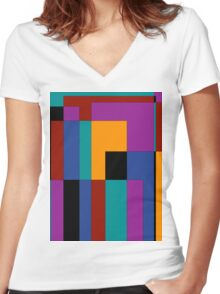 A walk through time Women's Fitted V-Neck T-Shirt