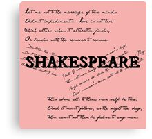 Shakespeare Canvas Print