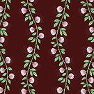 Pink Paper Flower Vine by SusanSanford