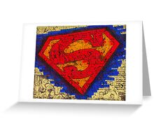 Chipped Paint Superman Greeting Card