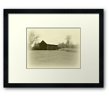 Memories of Long Ago - Grey Framed Print