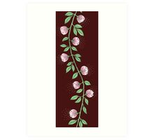 Pink Paper Flower Vine Art Print