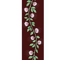 Pink Paper Flower Vine Photographic Print