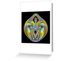 A Gray Alien Greeting Card