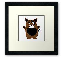 Cute Dog Framed Print