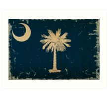 South Carolina State Flag VINTAGE Art Print