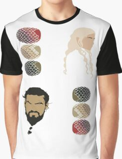 Game of Thrones (+4 Sticker Pack) - Khal Drogo, Daenerys & Dragon Eggs Graphic T-Shirt