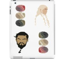 Game of Thrones (+4 Sticker Pack) - Khal Drogo, Daenerys & Dragon Eggs iPad Case/Skin
