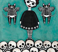 Frida y Gatos 6 by Ryan Conners
