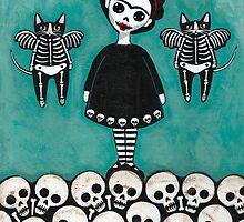 Frida y Gatos 6 by Ryan Conners