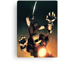 Ninja Vs. robot Canvas Print