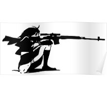 Sniper Girl Decal Poster