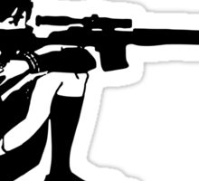 Sniper Girl Decal Sticker