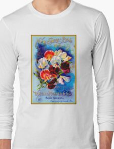 """W. ATLEE BURPEE"" Sweet Peas Advertising Print Long Sleeve T-Shirt"