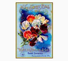 """""""W. ATLEE BURPEE"""" Sweet Peas Advertising Print Unisex T-Shirt"""