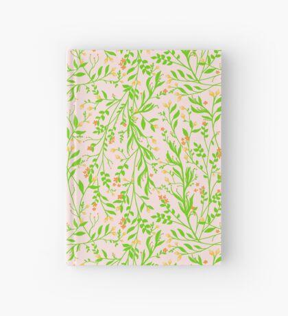 Tangled Botanical Grass Green, Orange and Pink Hardcover Journal