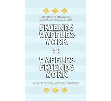 Waffles Friends Work Photographic Print