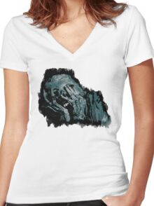 The Undead. Women's Fitted V-Neck T-Shirt