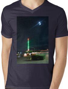 Motel in the moonlight Mens V-Neck T-Shirt
