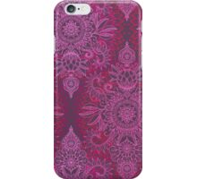 Magenta, Pink & Coral Protea Doodle Pattern iPhone Case/Skin