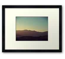 View of Hills Framed Print