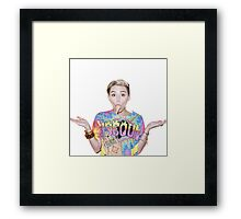miley w/ ice cream Framed Print