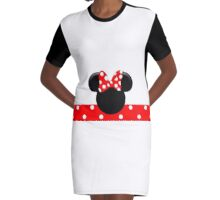 Minnie Mouse Red Polka Dots Graphic T-Shirt Dress