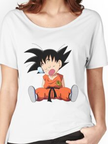 sleppy sleep son goku Women's Relaxed Fit T-Shirt
