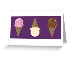Triple Scoop Pattern Purple Greeting Card