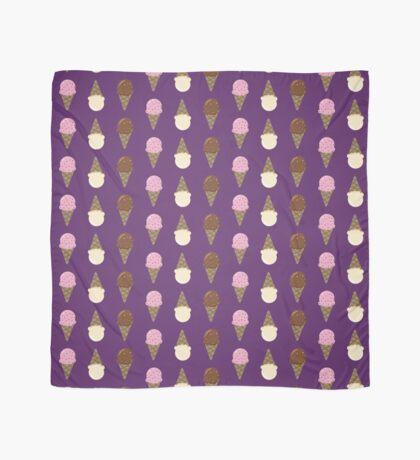 Triple Scoop Pattern Purple Scarf