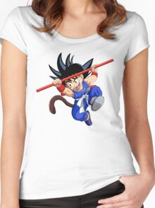 son goku with blue custom Women's Fitted Scoop T-Shirt