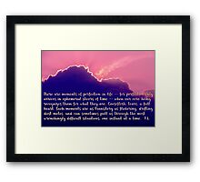 Moments of Perfection Sunset, typography art Framed Print