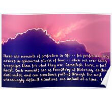 Moments of Perfection Sunset, typography art Poster