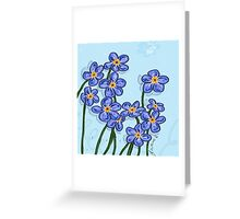 forget me not flowers large Greeting Card