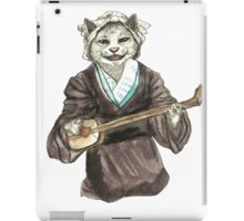 A Singing Cat Playing Samisen iPad Case/Skin