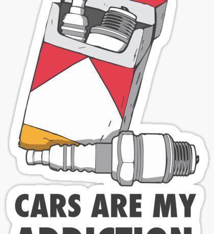 Cars are my addiction Sticker
