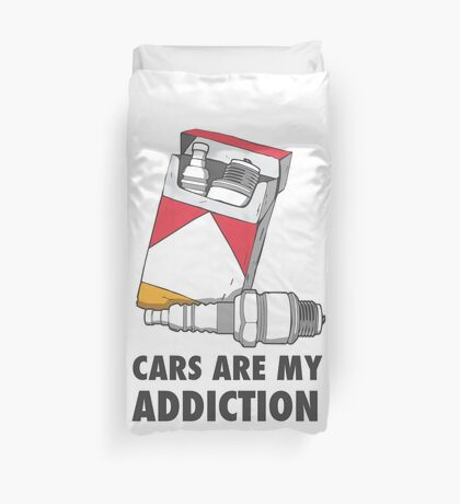 Cars are my addiction Duvet Cover