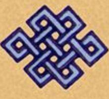 tiny endless knot Sticker