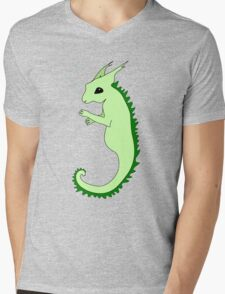 Fantasy Cartoon Sea Squirrel Mens V-Neck T-Shirt
