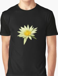 Photo of a single white water lily Graphic T-Shirt