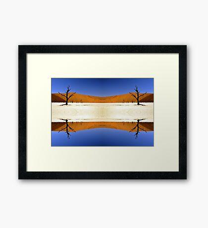 Desert Stripes Framed Print