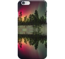 Stripes of northern lights iPhone Case/Skin